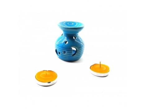 Аромалампа Arjuna керамическая 12.5х8х7.5 см Синяя (238499)