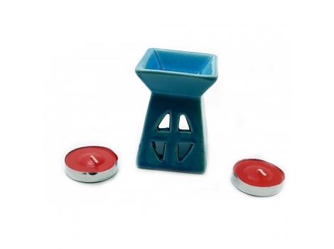 Аромалампа Arjuna керамическая 12х8.5х7 см Синяя (238501)