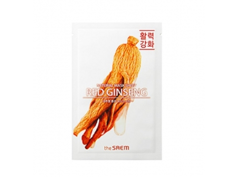 Тканевая маска для лица с экстрактом красного женьшеня The Saem Natural Mask Sheet Red Ginseng 21 мл (8806164136447)