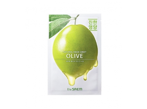 Питательная тканевая маска для лица The Saem Natural Mask Sheet Olive 21 мл (8806164158869)
