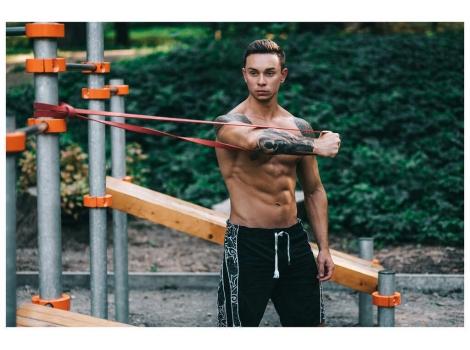 Эспандер-петля (резинка для фитнеса и спорта) 4FIZJO Power Band 64 мм 36-46 кг (4FJ1097)