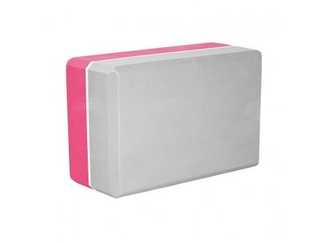 Блок для йоги двухцветный SportVida SV-HK0336 Pink/Grey (SV-HK0336)