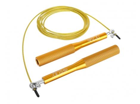 Скакалка скоростная для кросфита 4FIZJO Speed Rope 4FJ0185 Gold