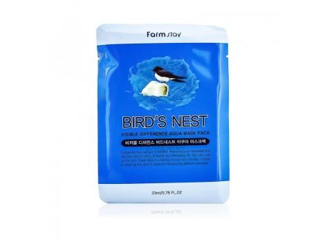 Маска для лица с экстрактом ласточкиного гнезда Farmstay Visible Difference Birds Nest Aqua Mask Pack 23мл (8809426950706)