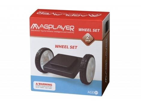 Конструктор Magplayer Платформа на колесах 2 элемента (MPB-2)