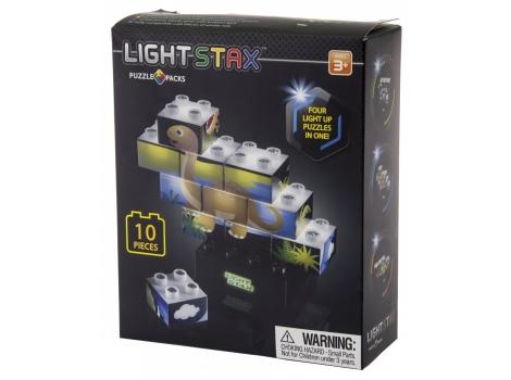 Конструктор Light Stax с Led подсветкой Puzzle Dino Edition 10 эл (LS-M03004)