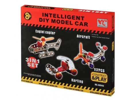 Конструктор металлический Same Toy 3 в 1 117 элементов (58042Ut)