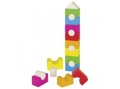 Конструктор goki деревянный Радужная башня (58587)