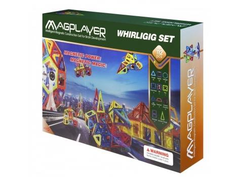 Конструктор Magplayer магнитный набор 112 элементов (MPB-112)