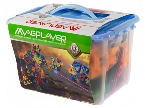 Конструктор Magplayer магнитный набор 198 элементов (MPT-198)