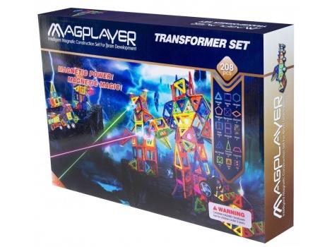 Конструктор Magplayer магнитный набор 208 элементов (MPB-208)