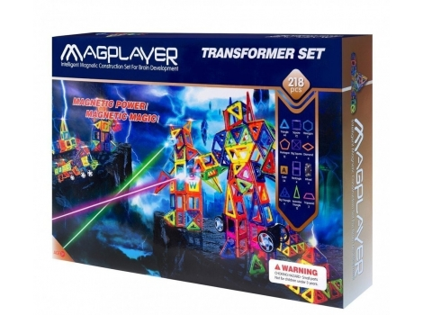 Конструктор Magplayer магнитный набор 218 элементов (MPA-218)