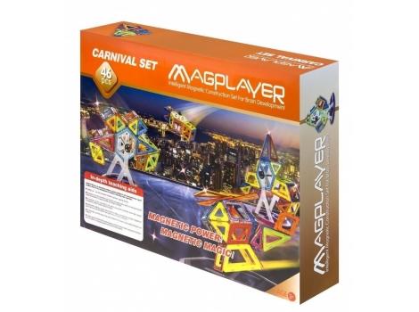 Конструктор Magplayer магнитный набор 46 элементов (MPB-46)
