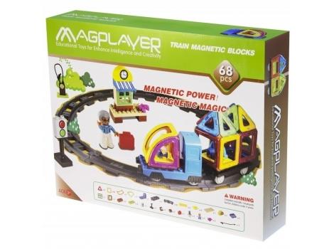 Конструктор Magplayer магнитный набор 68 элементов (MPK-68)