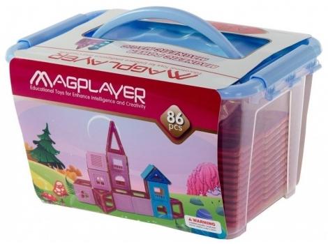 Конструктор Magplayer магнитный набор 86 элементов (MPT-86)