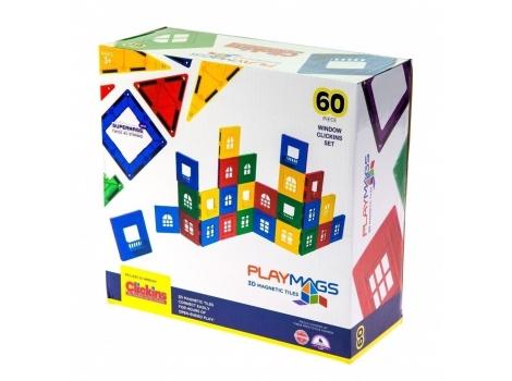 Конструктор Playmags магнитный набор 60 элементов (PM169)