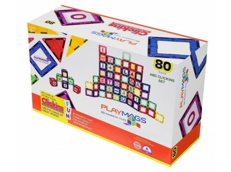 Конструктор Playmags магнитный набор 80 элементов (PM170)