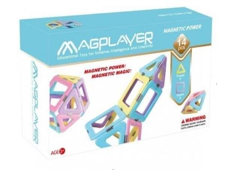 Конструктор Magplayer магнитный набор 14 элементов (MPH2-14)
