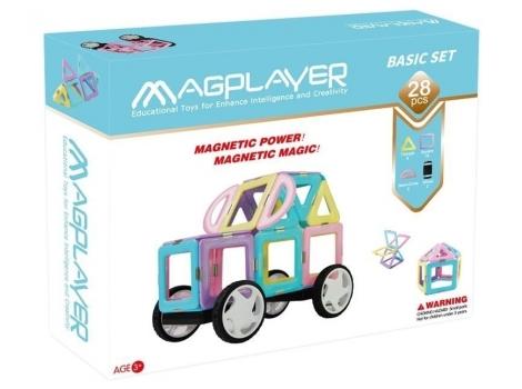 Конструктор Magplayer магнитный набор 28 элемент (MPH2-28)