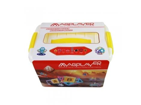 Конструктор Magplayer магнитный набор бокс 81 элемент (MPT2-81)