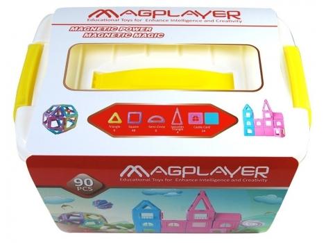 Конструктор Magplayer магнитный набор бокс 90 элемент (MPT2-90)