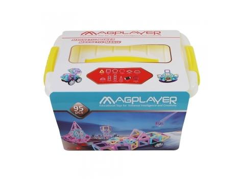 Конструктор Magplayer магнитный набор бокс 95 элементов (MPT2-95)