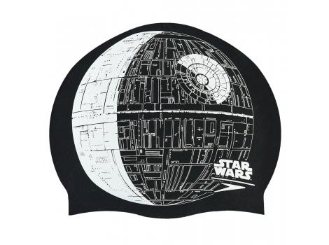 Шапочка для плавания SPEEDO SLOGAN PRINT 808385C852 Star Wars Death Star Черный-серый