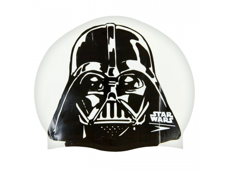 Шапочка для плавания SPEEDO SLOGAN PRINT 808385C854 Star Wars Darth Vader Белый-черный