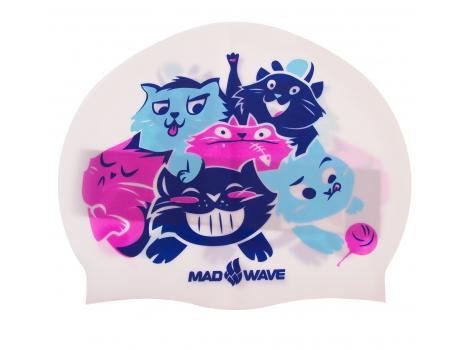 Шапочка для плавания детская CATS M057810 Белый
