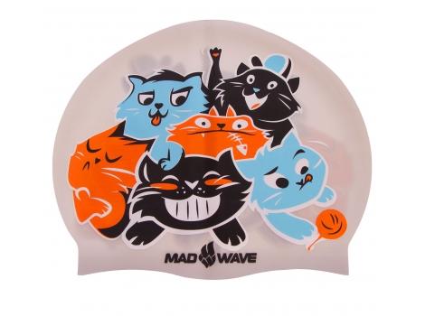 Шапочка для плавания детская CATS M057810 Серебряный