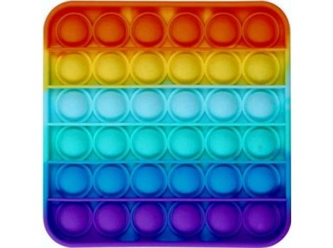 Антистресс PopAr сенсорная игрушка квадрат радужный